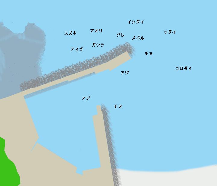 田杭漁港ポイント図