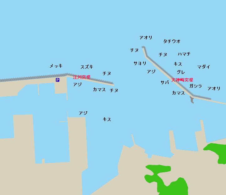 田辺港ポイント図