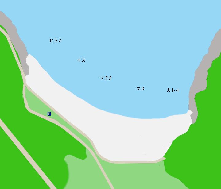 田曽白浜ポイント図