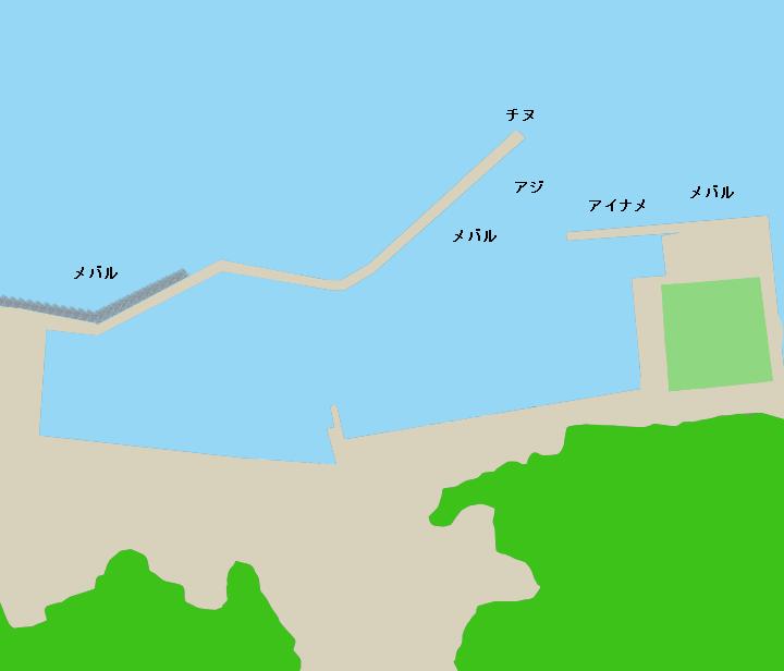坂手港ポイント図