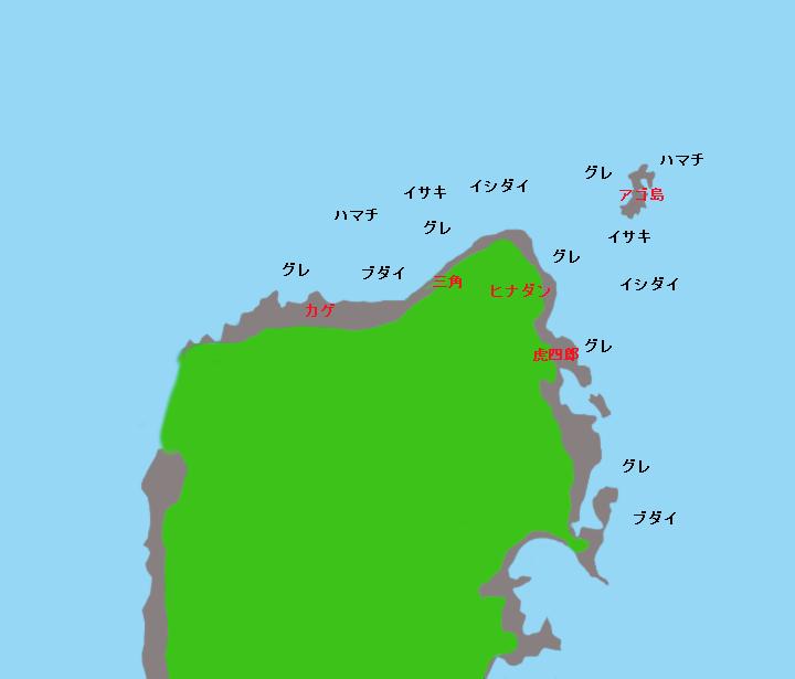 桃頭島ポイント図
