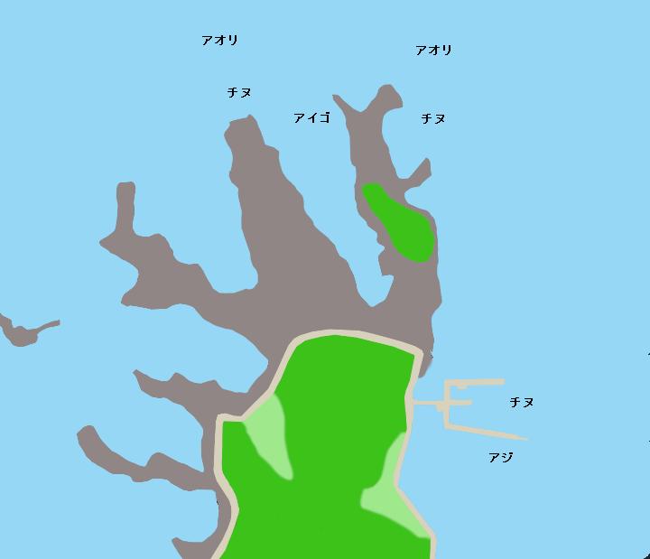 鳥の巣半島ポイント図