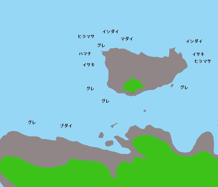 遊木戸島ポイント図