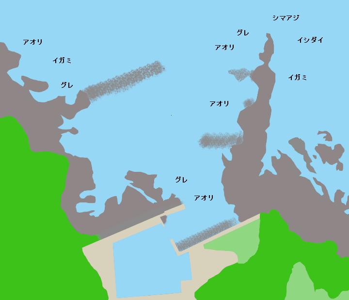 和深漁港ポイント図