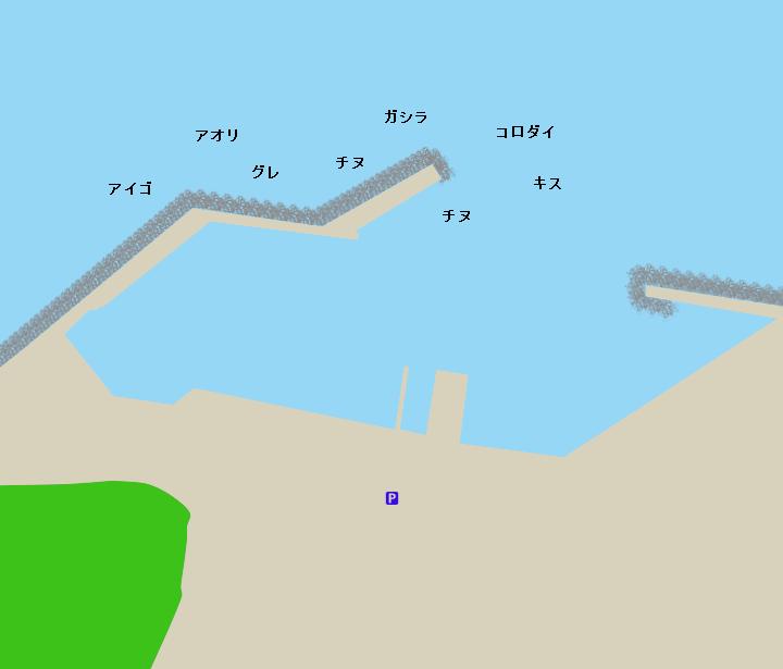 湯崎漁港ポイント図