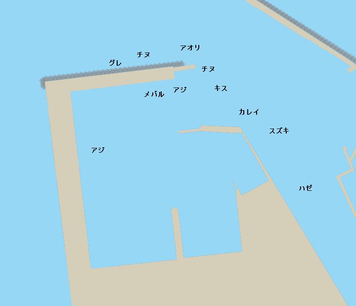網代新港ポイント図