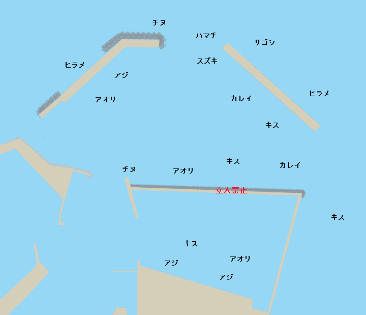 赤碕漁港ポイント図