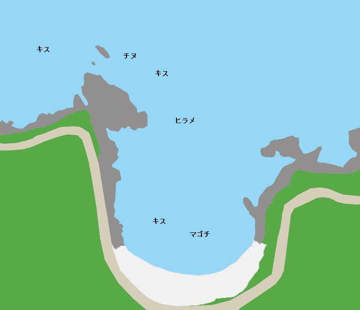 青井浜ポイント図