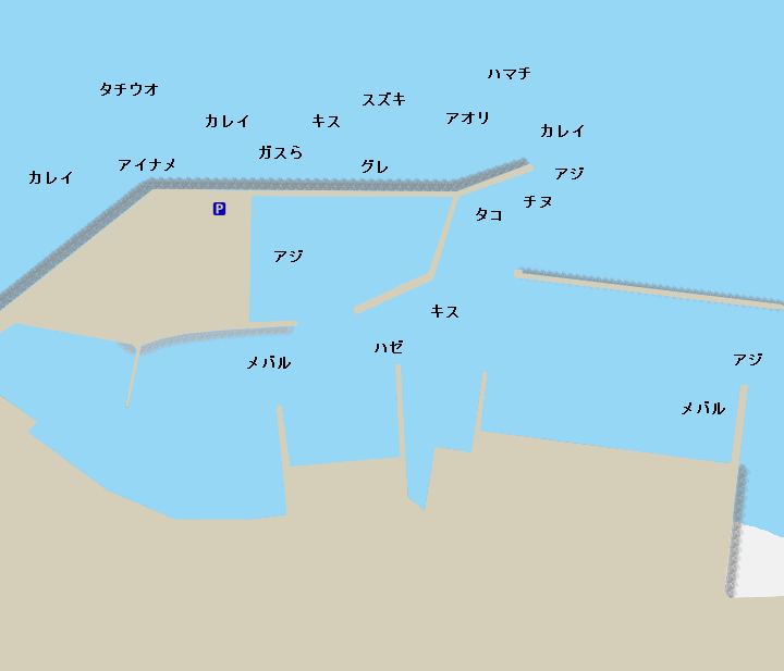 浅野漁港ポイント図