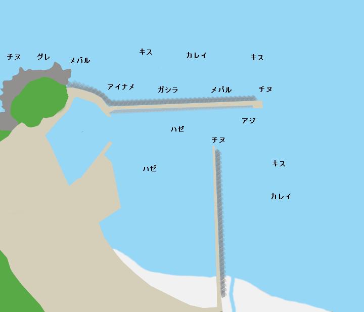 淡路山田港ポイント図
