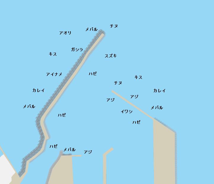 江井漁港ポイント図