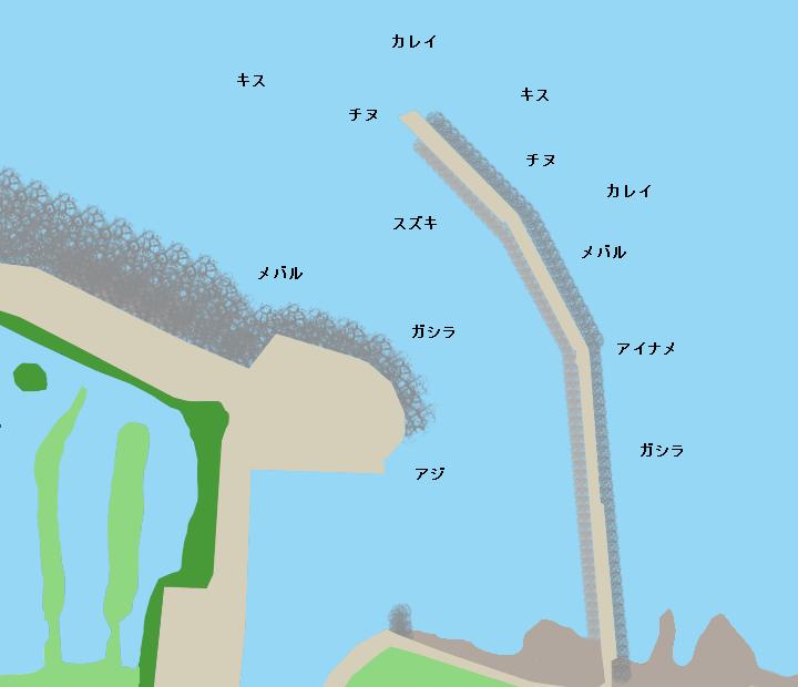 福泊漁港ポイント図