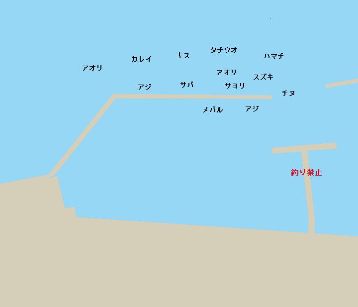 福良港ポイント図
