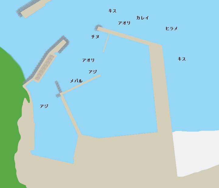 船磯漁港ポイント図