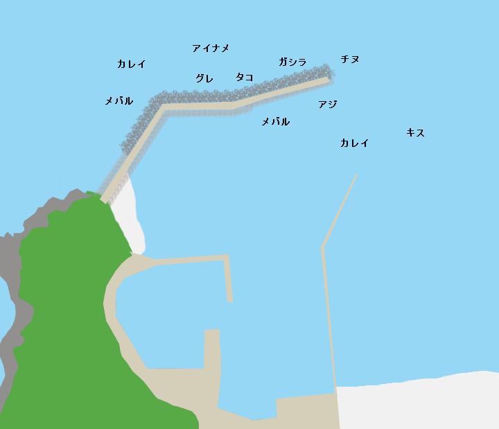 船瀬漁港ポイント図