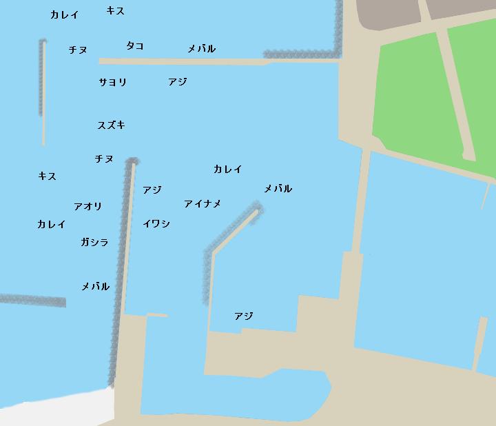 二見漁港ポイント図