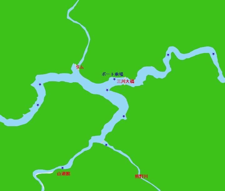 合川ダムポイント図