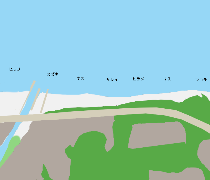 浜村海岸ポイント図