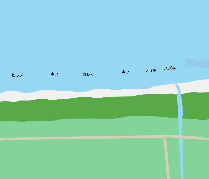 北条砂丘ポイント図