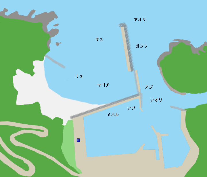 居組港ポイント図