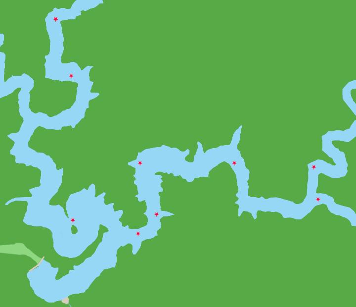 池原ダムポイント図