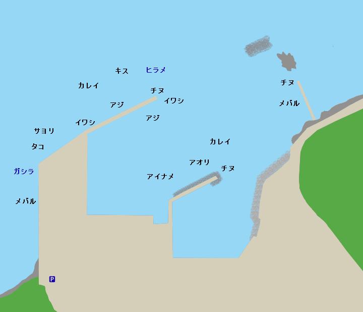 鰯浜漁港ポイント図