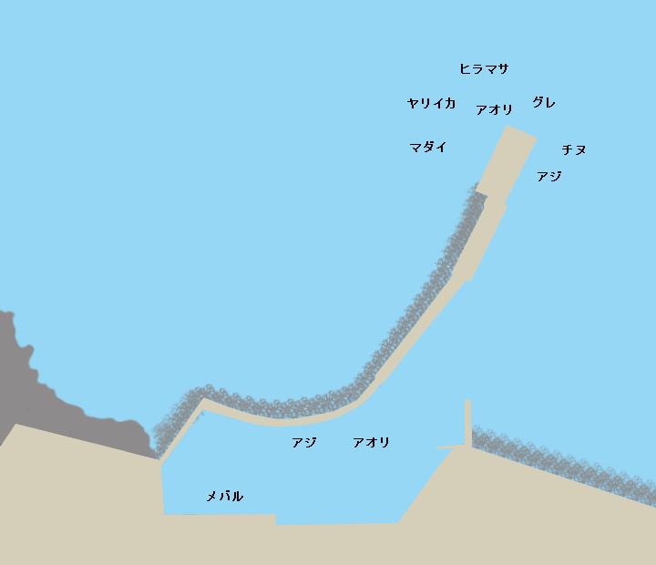 釜浦漁港ポイント図