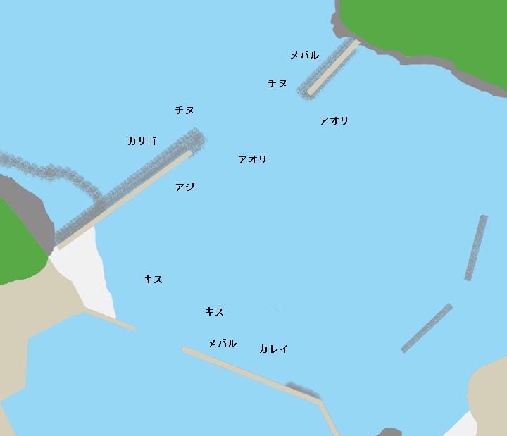 片江漁港ポイント図