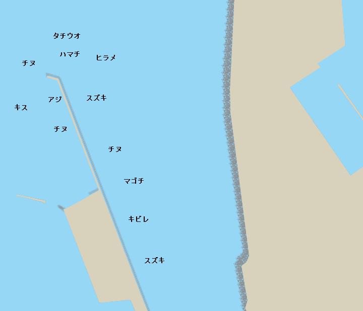 紀ノ川河口ポイント図
