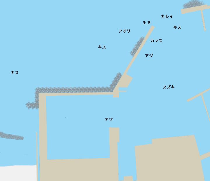 古浦漁港ポイント図
