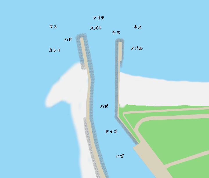 楠漁港ポイント図