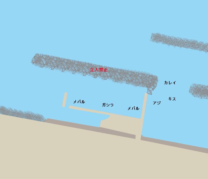 舞子漁港ポイント図