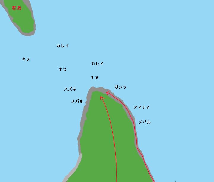万葉岬ポイント図