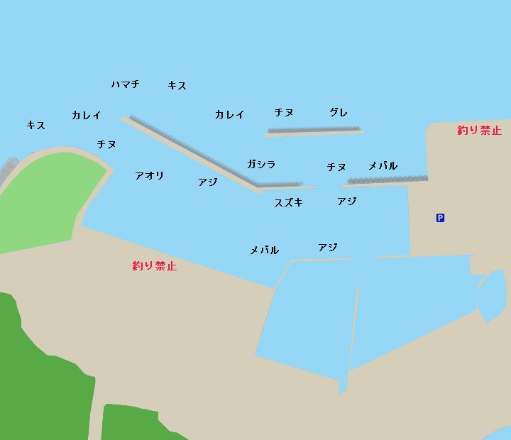 丸山漁港ポイント図