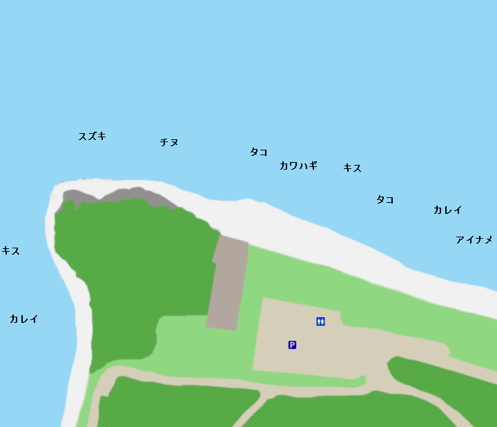 丸山県民サンビーチポイント図