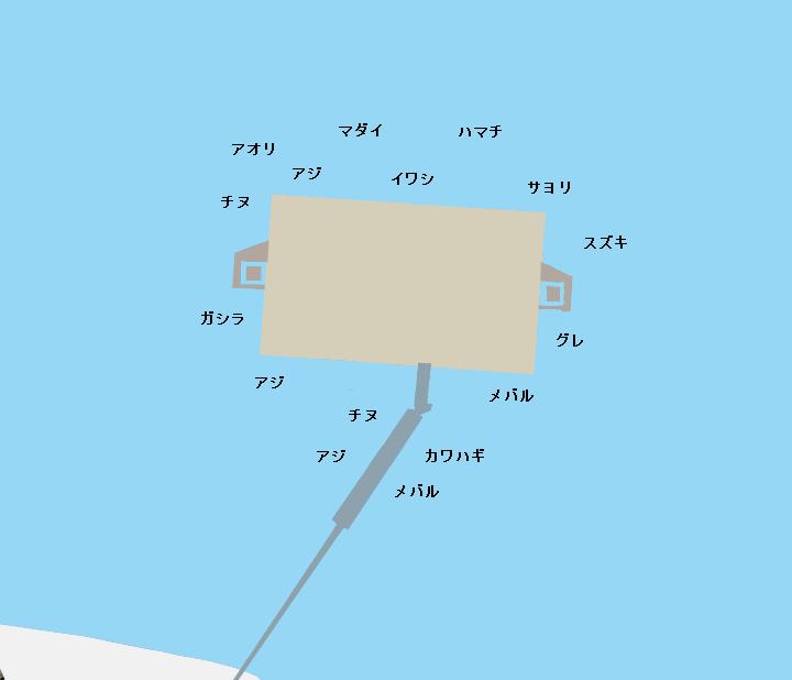 南あわじ市海づり公園ポイント図