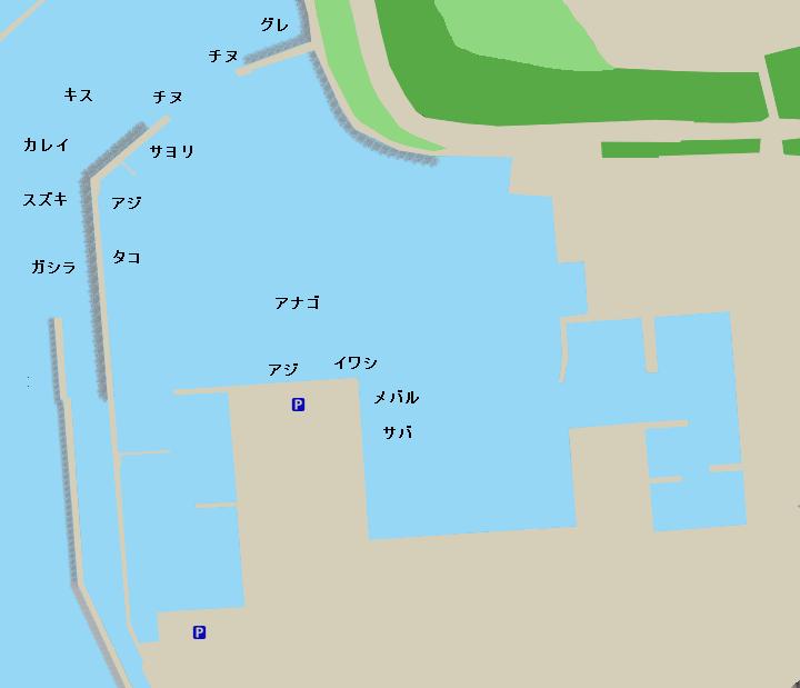 妻鹿漁港ポイント図