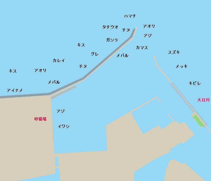 湊港ポイント図