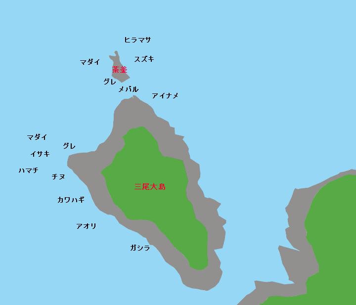 三尾大島ポイント図