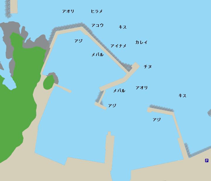 諸寄漁港ポイント図