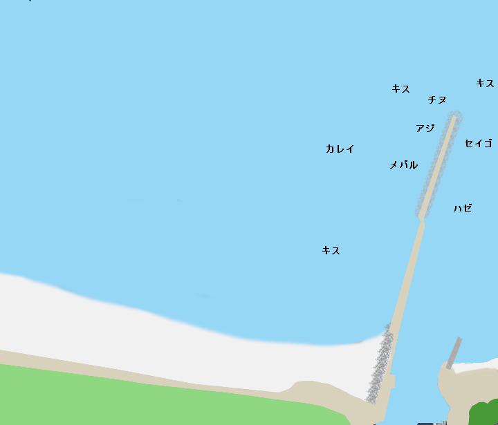 的形海水浴場ポイント図