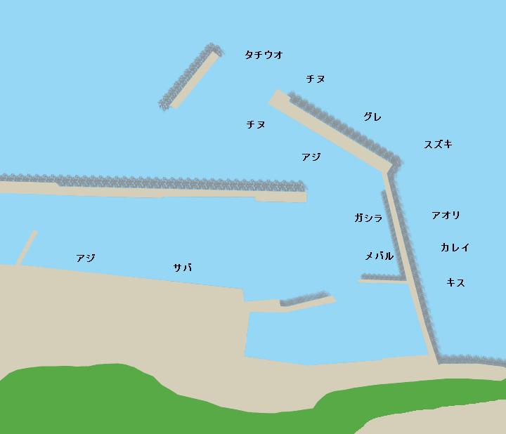 灘漁港ポイント図