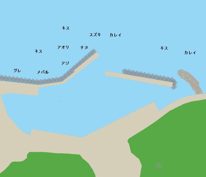 長浜漁港ポイント図