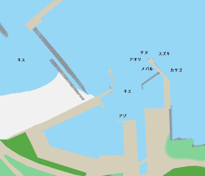 長和瀬漁港ポイント図