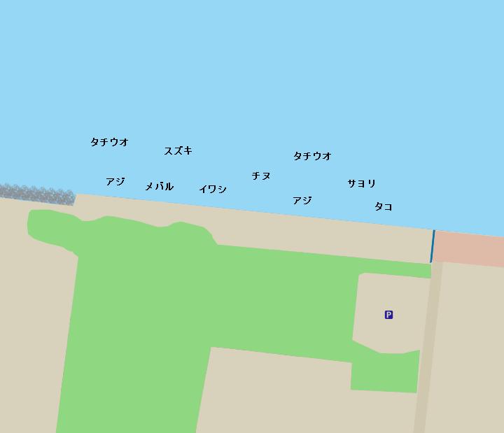鳴尾浜臨海公園海づり広場ポイント図