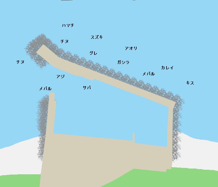 仁頃漁港ポイント図