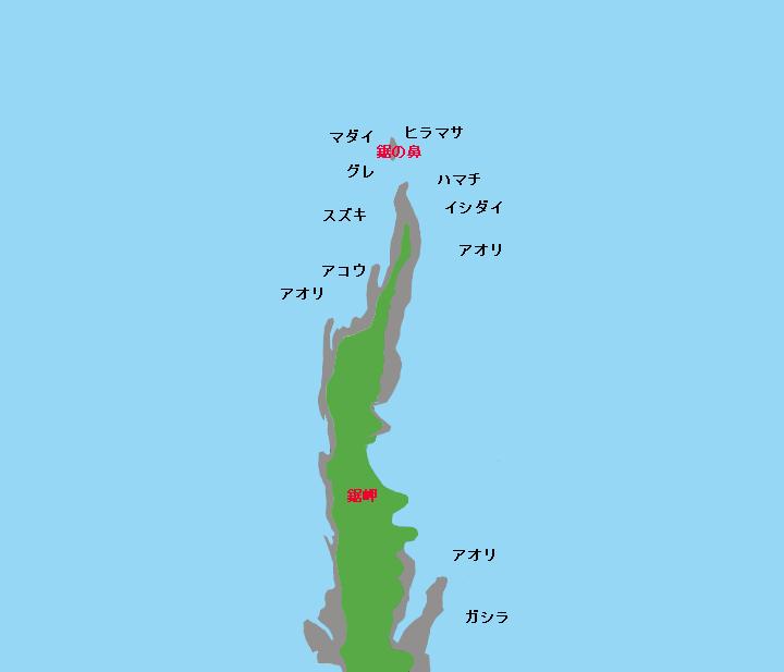 鋸岬ポイント図