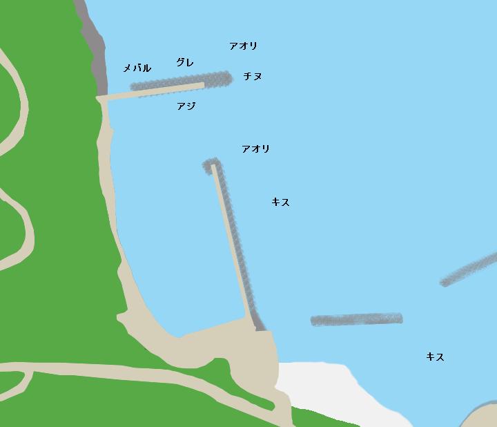 野波漁港ポイント図