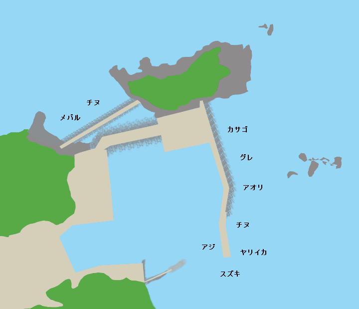 沖泊漁港ポイント図