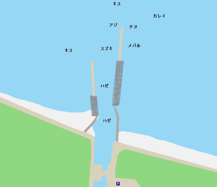 大塩漁港ポイント図